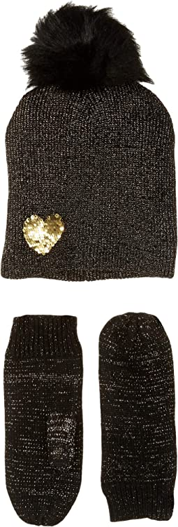 Heart to Heart Hat Gloves Two-Piece Set