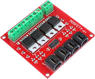 NOYITO 4-Channel MOSFET Switch Module IRF540 Isolated Power Module for Arduino (4-Channel, Red)