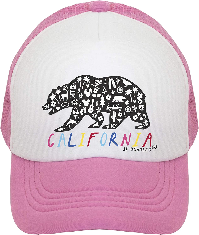 Bargain JP DOoDLES California Rainbow Bear Kids Basebal free shipping Trucker Hat. Hat