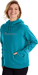 Champion Womens GF934 Powerblend Graphic Hoodie Hooded Sweatshirt