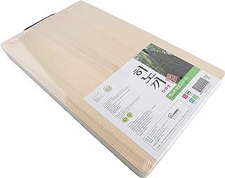 BOUMBI Hinoki Wood Reversible Cutting Board with Metal Handle(15.6x9.1x1.05 RM_Medium)