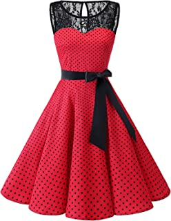 89c73232010 Bbonlinedress Women s 1950s Vintage Rockabilly Swing Dress Lace Cocktail  Prom Party Dress