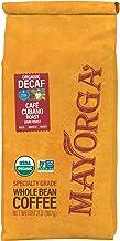Mayorga Organics Swiss Water Decaf Café Cubano Roast, 2lb Bag, Dark Roast Whole Arabica Bean Coffee, Specia...