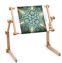 Needlework Table and Lap Hands-Free Stand with Adjustable Frame Made of Organic Beech..