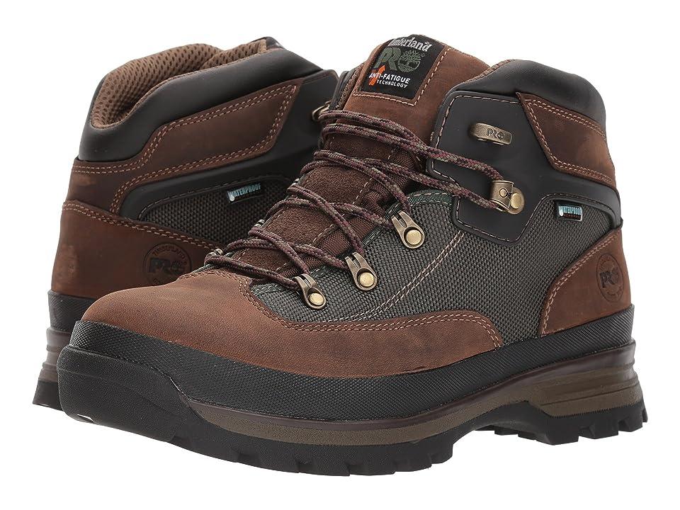Timberland PRO Euro Hiker Soft Toe Waterproof (Brown) Men