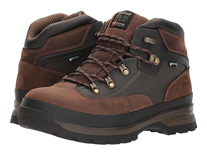 Timberland PRO  Euro Hiker Soft Toe Waterproof (Brown) Mens Work Lace-up Boots