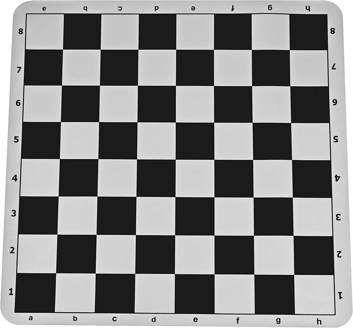 Black Silicone Tournament Chess Mat  50cm Board with 5.7cm Squares