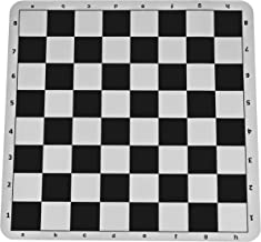The Original 100% Silicone Tournament Chess Mat - 20 Inch Board, Black - by WE Games