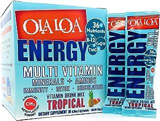 Ola Loa Energy Tropical Multi Vitamin Drink Mix - Amino Energy Powder, Gluten Free, Detox, Dairy Free, Caffeine Free - Dri...
