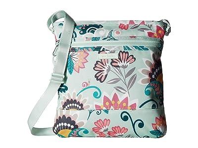 Vera Bradley Lighten Up Slim Crossbody (Mint Flowers) Cross Body Handbags