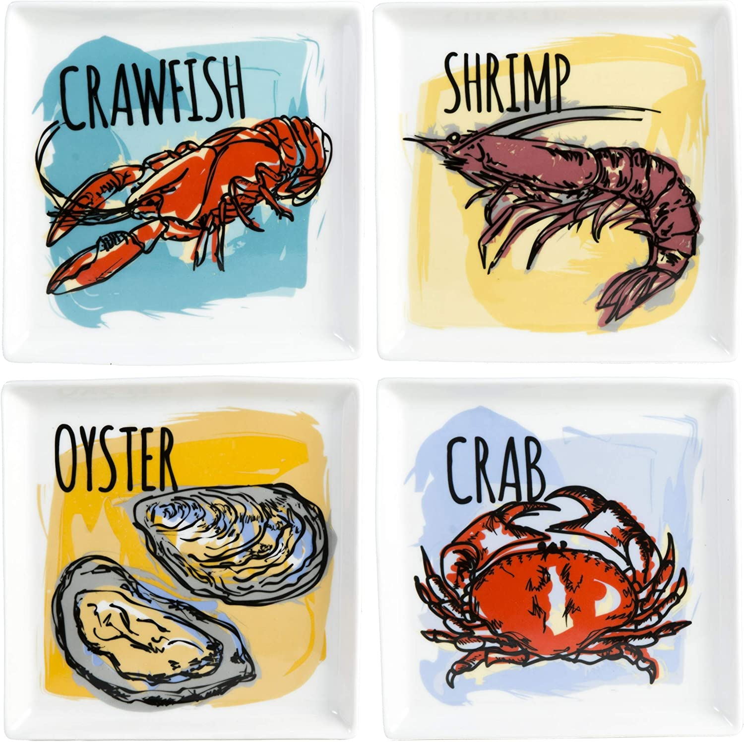 Seafood Appetizer Plates of Selling 4-10202 5 ☆ popular Set