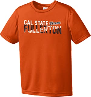 Image One Youth Boy's NCAA Diagonal Short Sleeve Polyester Competitor T-Shirt Small orange