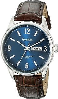 Armitron Men's 20/5048 Day/Date Function Dial Croco-Grain Leather Strap Watch