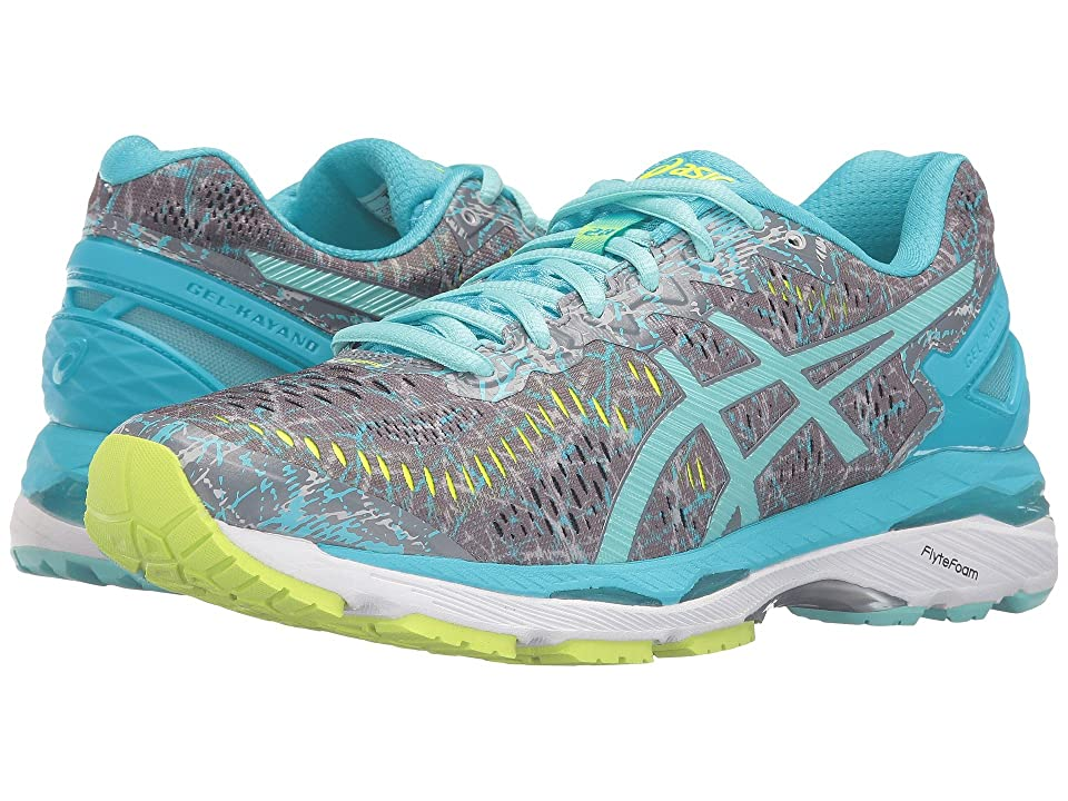 ASICS Gel-Kayano(r) 23 (Shark/Aruba Blue/Aquarium) Women