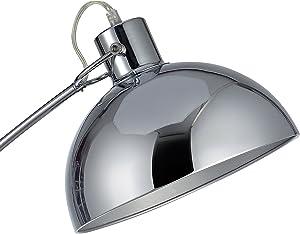 Versanora VN-L00024-EU Arco Lampada da Pavimento 60 W, Cromato, 88 x 25 x 160 cm