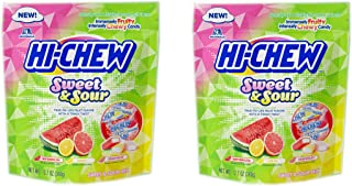 2 Packs Hi-Chew Sensationally Chewy Japanese Fruit Candy, Sours & Sweets, 12.7 Ounce