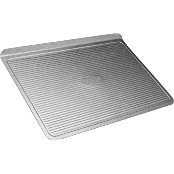 USA Pan (1030LC) Bakeware Cookie Sheet, Large, Warp Resistant Nonstick Baking Pan, Made in the USA from Aluminized Steel,Silver