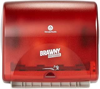 "Brawny Professional Automatic Shop Towel Dispenser by GP PRO (Georgia-Pacific), Red, 59465, 14.800"" W x 9.750"" D x 13.300"" H"