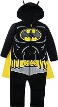 Warner Bros. DC Comics Mono y Capa de Batman de Liga de la Justicia con Cierre de Cremallera - Elegante Conjunto de Disfraz para Bebé (0-3 Meses)