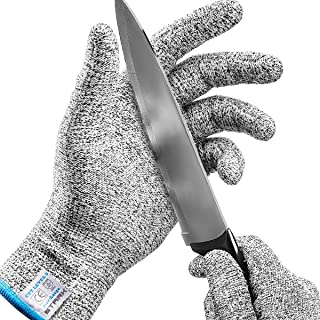 Stark Safe Cut Resistant Gloves (1 Pair) Food Grade Level 5 Protection, Safety Cutting Gloves for Kitchen, Mandolin Slicing, Fish Fillet, Oyster Shucking, Meat Cutting and Wood Carving (XL)