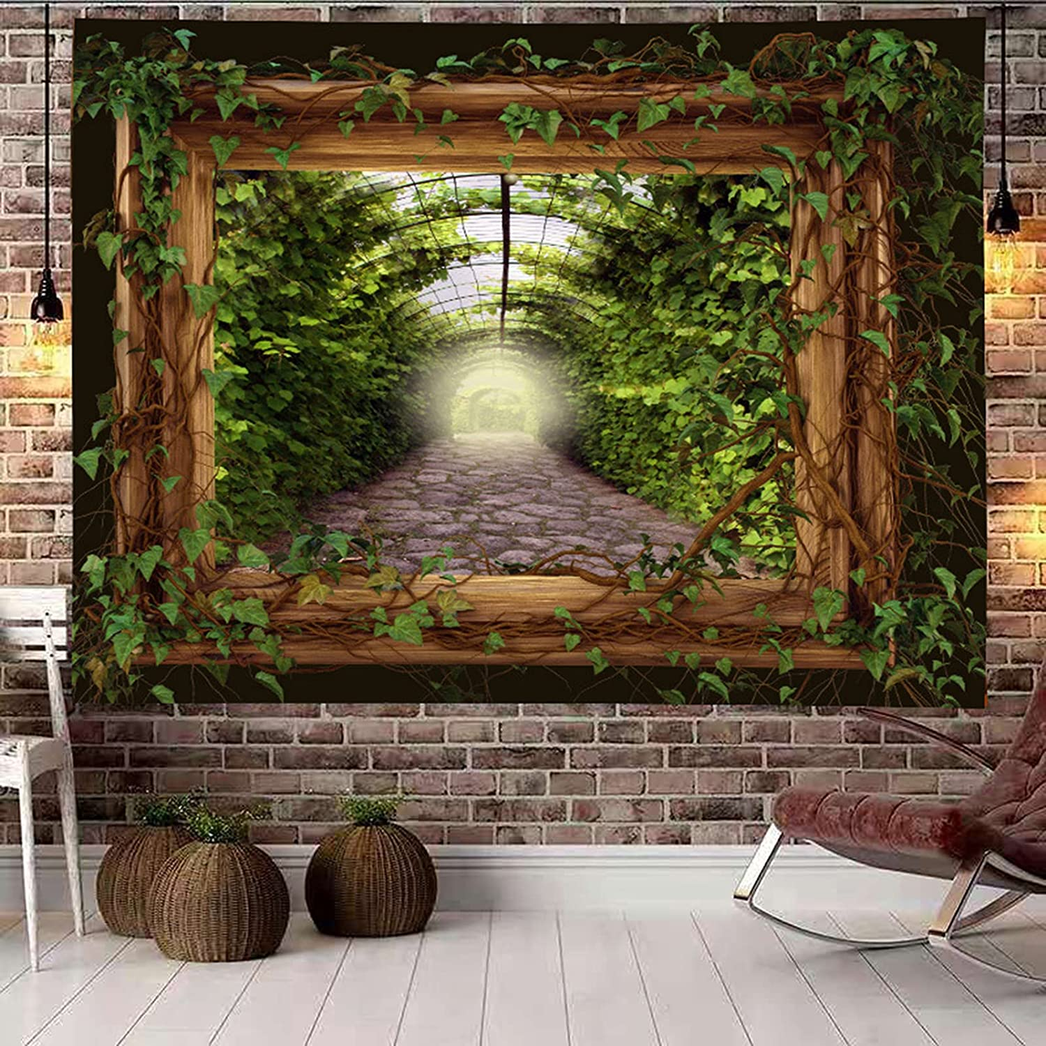LTNT Online limited product Forest Surprise price Tapestry Wall Hanging Psychedelic 3D Print