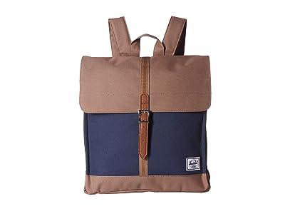 Herschel Supply Co. City Mid-Volume (Navy/Pine Bark/Tan) Backpack Bags