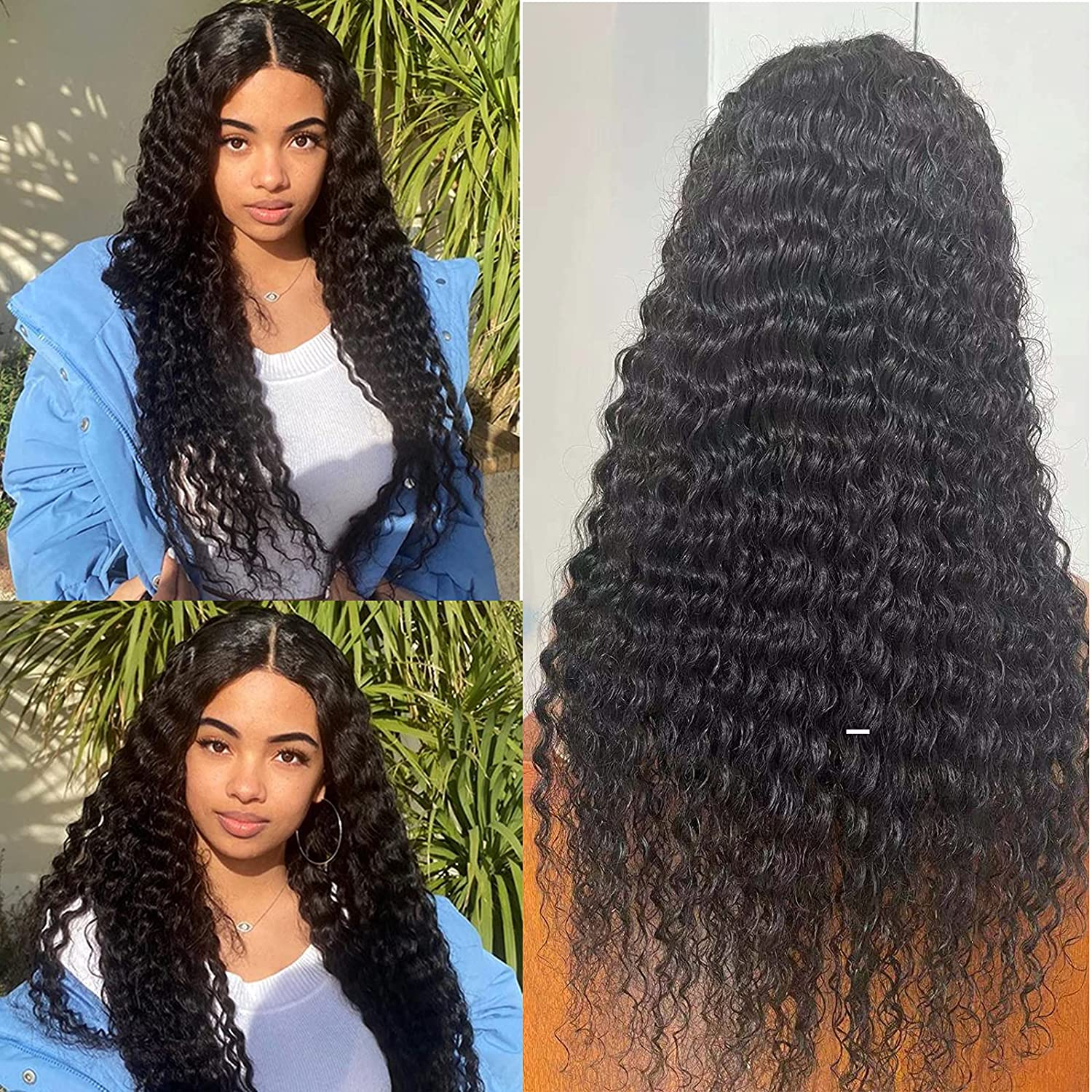 Human Hair Deep Wave At the price Wigs 4 years warranty for Lace Closure B 4x4