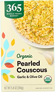 365 by Whole Foods Market, Organic Pearled Couscous Mix, Garlic & Olive Oil, 5.8 Ounce