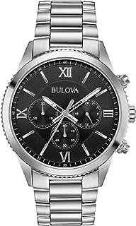 Bulova Men's Classic Quartz Chronograph Gray Dial Stainless Steel 42mm Watch (Model: 96A212)