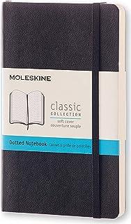 Moleskine Classic Soft Cover Notebook - Dot Grid - Pocket - Black, (QP614)