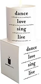 Quotable Cards Candle Dance Love Sing Live, 1 Each