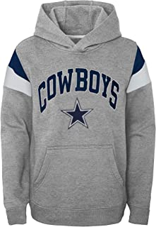 NFL Throwback Youth Color Blocked Hoodie, Heather Gray/Navy, S