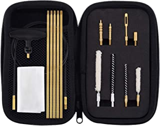 Raiseek .177 Cal & .22 Cal Airgun Cleaning Kit with Cotton Mop Brass Cleaning Rod Nylon Brushes in Zippered Organizer Compact Case