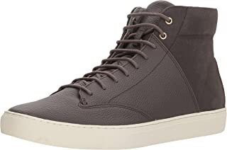 TCG Premium Men Shoe Porter All Leather High Top Sneaker with Laces