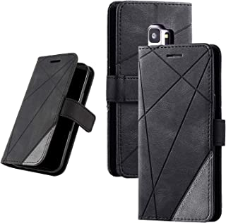 Samsung Galaxy S9 PU Leather Kickstand Wallet Phone Case, Flip Magnetic Cover with Card Slot and Removable Card Holder (5 ...