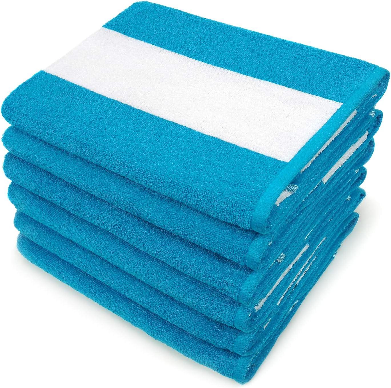 Cabana Terry Loop Beach and Loop Towel 6-Pack