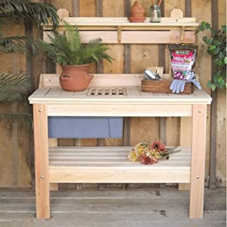 Swag Pads Wooden Potting Bench Garden Table - Made in USA