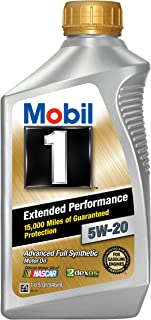 Mobil 1 (102989-6PK Extended Performance 5W-20 Motor Oil - 1 Quart, (Pack of 6)