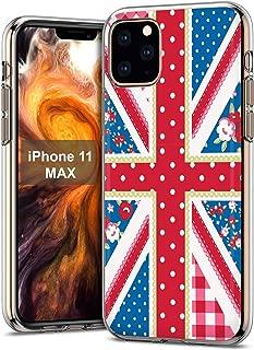 MOBIFLARE Slim Case for Apple iPhone 11, Shabby Chic Union Jack Design Light, Flexible, Corner Protection Thin Gel Phone Case