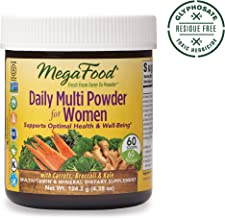 MegaFood, Daily Multi Powder for Women, Supports Optimal Health, Multivitamin and Mineral Supplement, Gluten Free, Vegetarian, 4.38 oz (60 Servings)