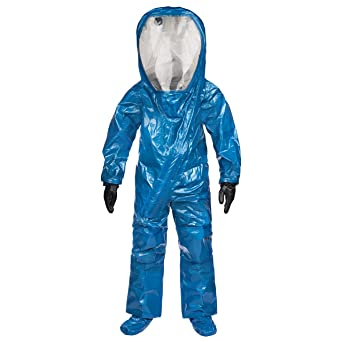 Lakeland Interceptor Fully Encapsulated Front Entry Level A Vapor Protective Suit Disposable Large Blue Protective Work And Lab Coveralls Amazon Com Industrial Scientific