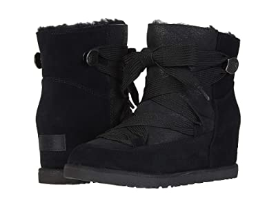 UGG Classic Femme Lace-Up (Black) Women