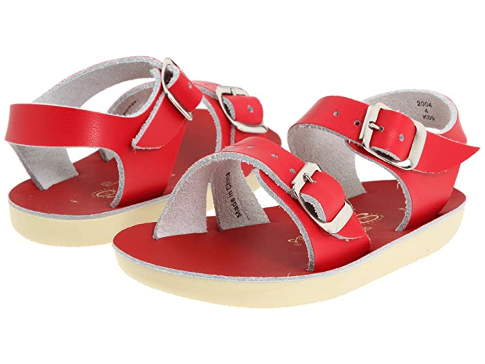 Salt Water Sandal by Hoy Shoes  Sun-San - Sea Wees (Infant/Toddler) (Red) Kids Shoes