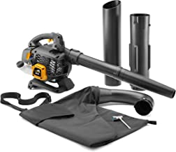 McCulloch GBV 322 Petrol Leaf Blower/Garden Vacuum: Leaf Blower/Garden Vacuum with 800W Engine Power, 45Litre Suction Po...