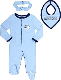 University of North Carolina Tar Heels Sports Shoe Footed Baby Romper