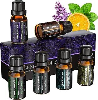VicTsing Aceites Esenciales para Humidificador,100% Pure Natural,Perfume de Aromaterapia, 6*10ml-Naranja Dulce, Lavanda, A...
