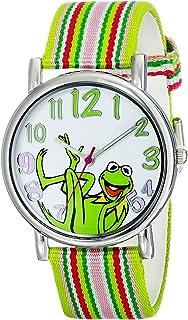 ساعة نسائية MU1010 من Muppets ذات اللون المتعدد مع حزام من القماش