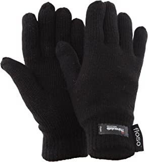 FLOSO Ladies/Womens Thinsulate Thermal Knitted Gloves (3M 40g)