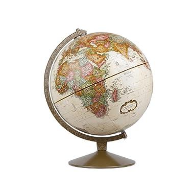 Replogle Globes Franklin World Globe, Antique Ocean, 12-Inch Diameter,Over 4,000 Place Names