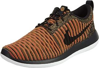 Mens Roshe Two Flyknit Black/Black/White/Max Orange Running Shoe 10.5 Men US